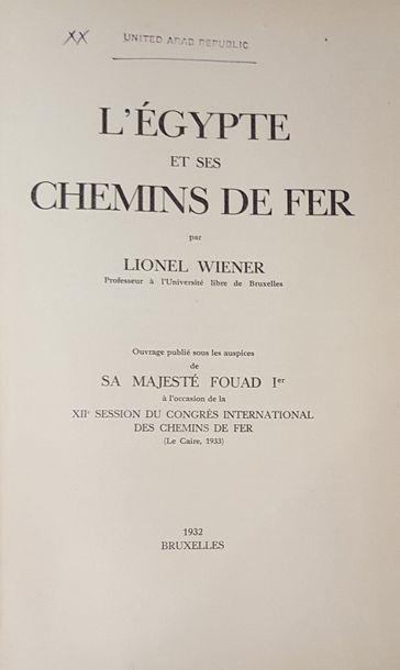 Lionel WIENER. L'Egypte et ses Chemins de...