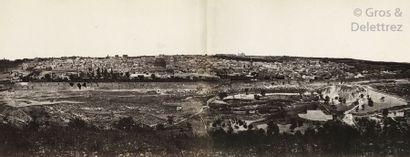 Félix Bonfils (1831-1885) Panorama de Jérusalem,...