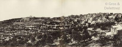 Félix Bonfils (1831-1885) Panorama de Bethléem,...