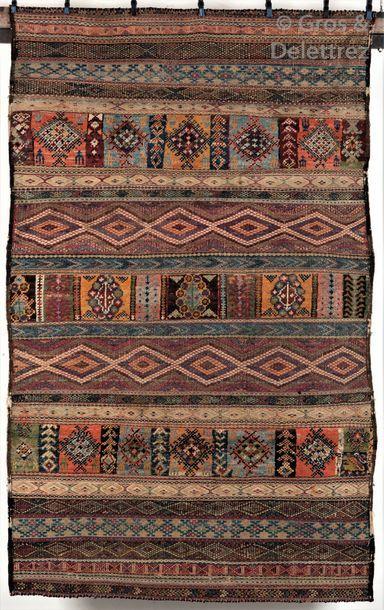 Un rare tapis Berbère Salé Hanbel incomplet,...