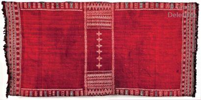 Un tissage dit Bakhnung, ethnie Berbère,...