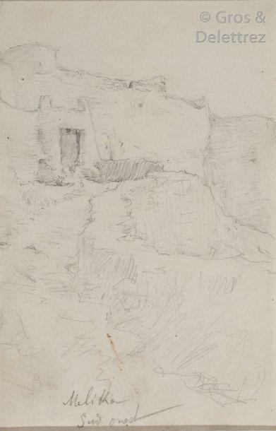 Etienne DINET (1861-1929) Quatre dessins...