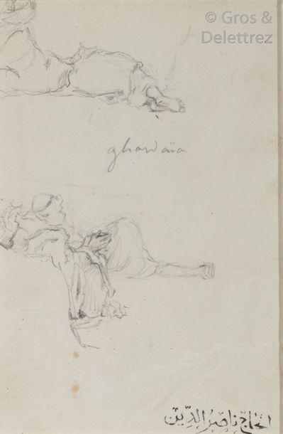 Etienne DINET (1861-1929) Trois dessins à...