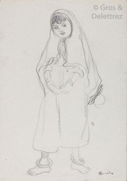 André SURÉDA ( 1872- 1930) Jeune fille juive...