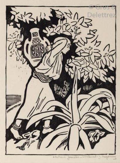 Jules MIGONNEY (1876-1929) Jeune fille Kabyle,...