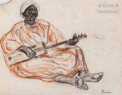André SURÉDA (1872-1930) Le joueur d'imzad...