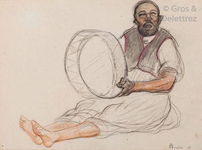 André SURÉDA (1872-1930) Le joueur de Bendir...