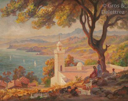 José ORTEGA (1921-1990) La Grande Mosquée...