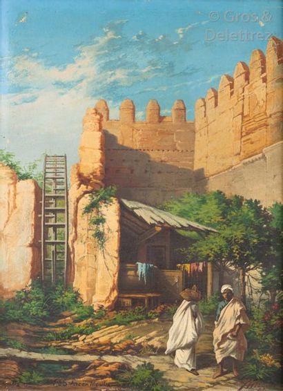MEDINI (XXème) Fès, ancien Moulin Huile sur...
