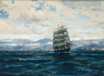Michael Zeno DIEMER (1867-1939) Trois-mâts...