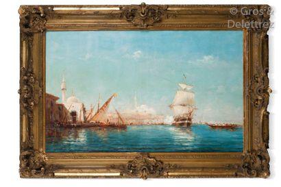 Alfred GODCHAUX (1835-1895) Caïques et voiliers...