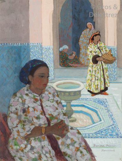 Marguerite BARRIERE-PREVOST (1887-1981) L'attente...