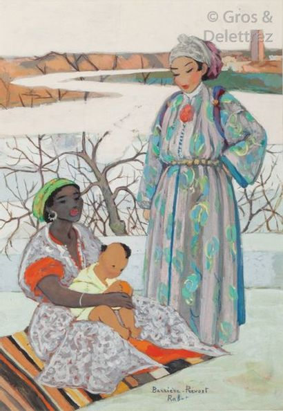 Marguerite BARRIERE-PREVOST (1887-1981) Marocaines...