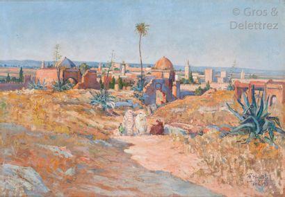 Raphaël PINATEL (1875-1933) Marocaines aux...