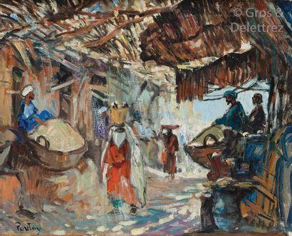 Henri PONTOY (1888-1968) Femme au panier...