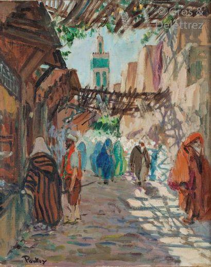 Henri PONTOY (1888-1968) Le minaret depuis...