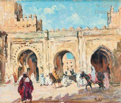 Henri PONTOY (1888-1968) La porte de Bab...