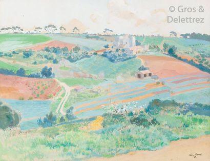 Léon CARRÉ (1878-1942) Villa dans la Mitidja,...