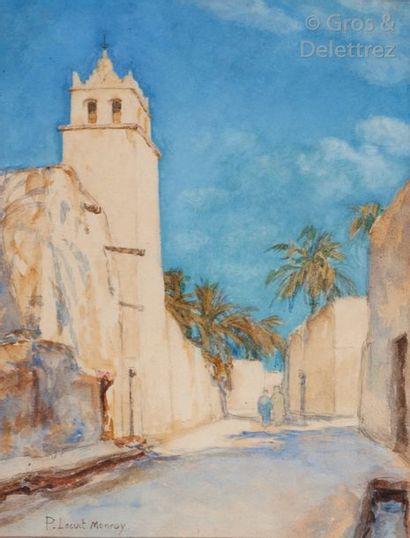 Paul LECUIT-MONROY (1858-1926) La Mosquée...