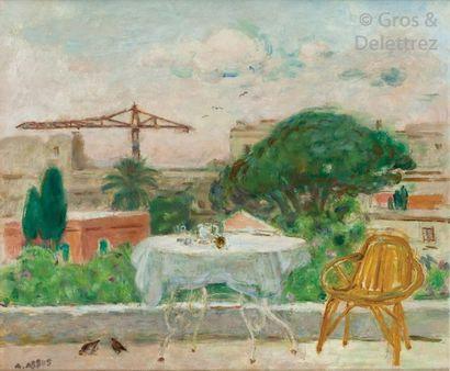 Armand ASSUS (1892-1977) Sur la terrasse...