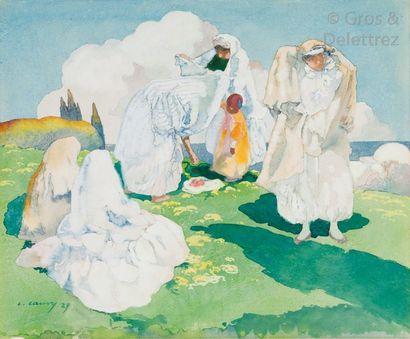 Léon CAUVY (1874-1933) Les hauteurs d'Alger...