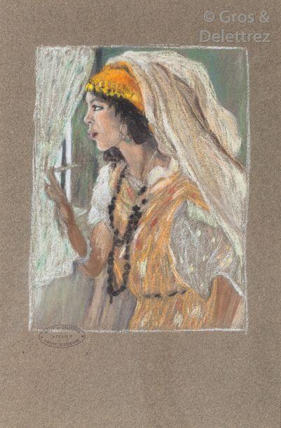 Henri d'ESTIENNE (1872-1949) Algérienne à...