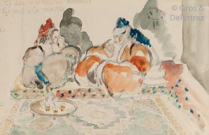 Mariette LYDIS (1894-1970) Le thé vert à...