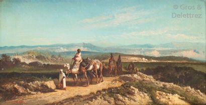 VAN WICK (XIXe - XXe) Caravane en sortie...
