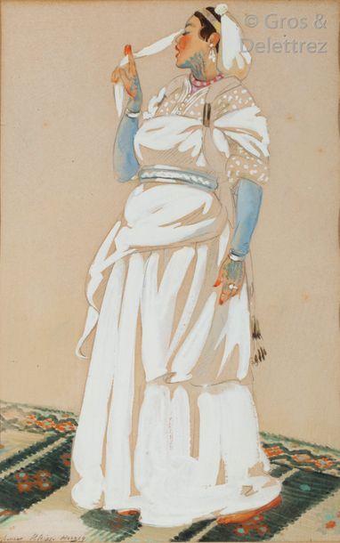 Yvonne KLEISS-HERZIG (1895-1968) Jeune orientale...