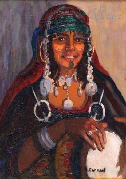 Micheline CANNAUT-UTZ (XXème siècle) Portrait...