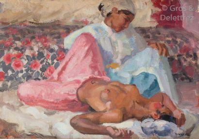 Marcel VICAIRE (1893-1976) jeune marocaine...