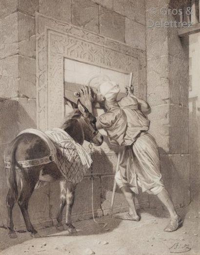Alexandre BIDA (1813-1895) A la fontaine...