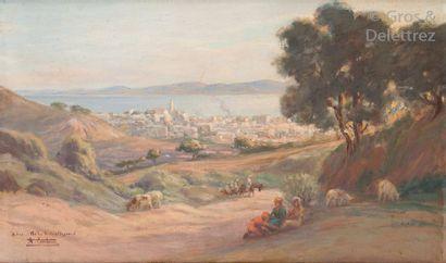 André CASABONNE (XIX-XXème siècle) Gardienne...