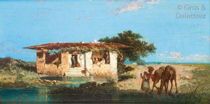 Henri LUCIEN ROBERT (1868- ) Maison au bord...
