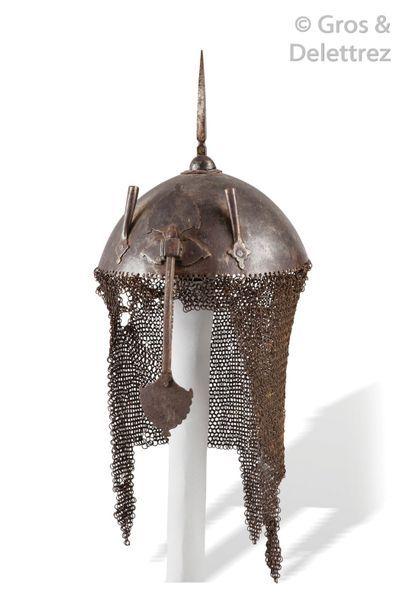 Casque (Kulah-Khud) en acier. Empire Ottoman...