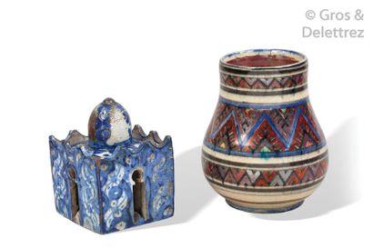 BOUJEMÂA LAMALI (c.1890-??)  Petit vase en...