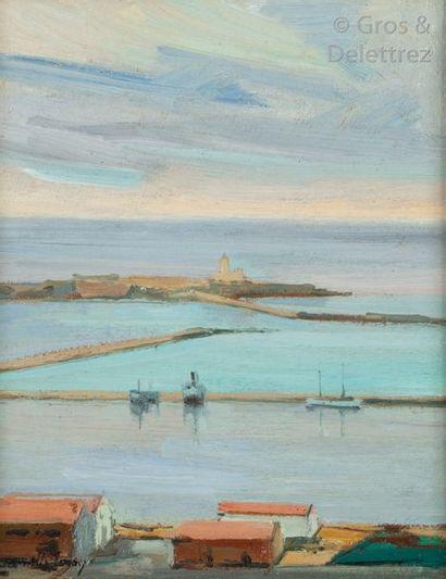 Camille LEROY (1905-1995) Port de Bougie...