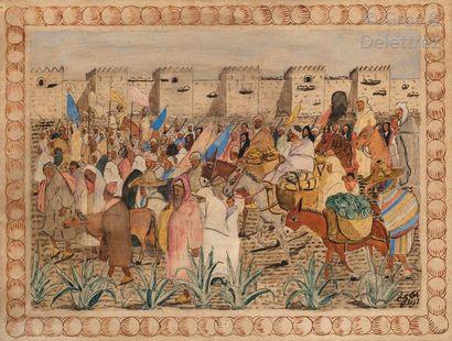 Mohamed BEN ALI R'BATI (1861-1939) Jour de...