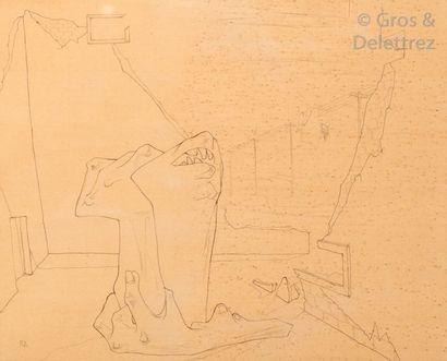 Ramsès YOUNAN (1913-1966) Composition à la...