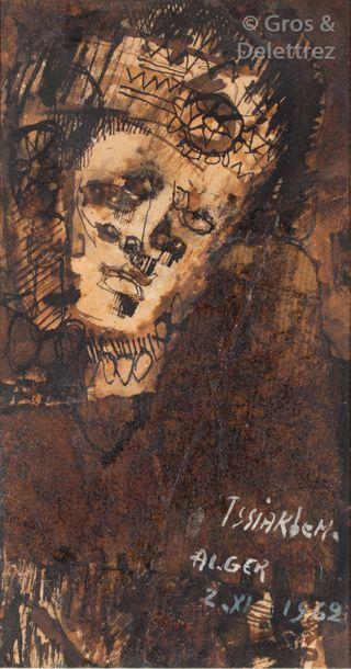 M'hamed ISSIAKHEM (1928-1985) Portrait au...