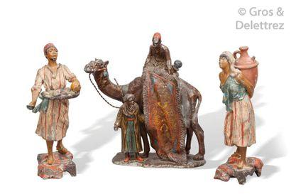 Ecole orientaliste (XXème siècle) Le marchand...