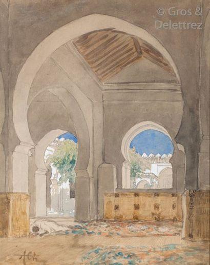 Alfred CHATAUD (1833-1908) La Grande Mosquée...