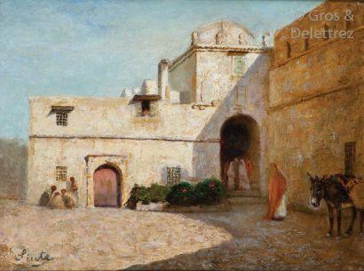 Joseph SINTES (1829-1913) Cour Intérieure,...