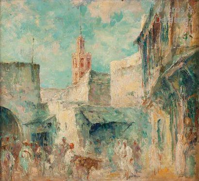 Edouard VERSCHAFFELT (1874 - 1955) Scène...