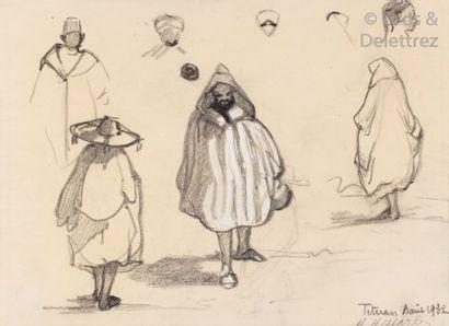 Henri HISSARD (XXème siècle) Etudes de personnages,...