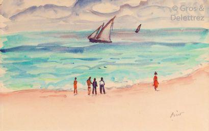 Gustave LINO (1893-1961) Algérois sur la...