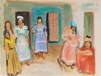 Maurice BOUVIOLLE (1893-1971) Femmes du sud...