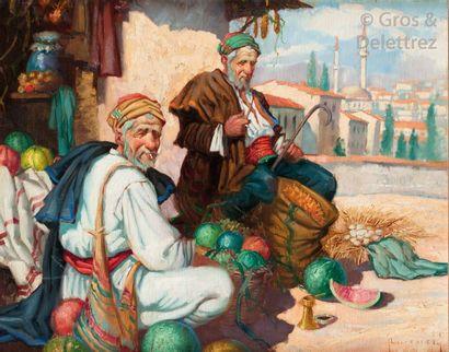 KOWALSKY (XXème) Les marchands de pastèques...