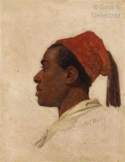 Ecole du XIXème siècle Portrait d'homme de...