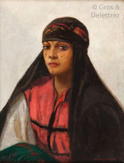 Marco de GASTYNE (1889-1982 ) La jeune algérienne...